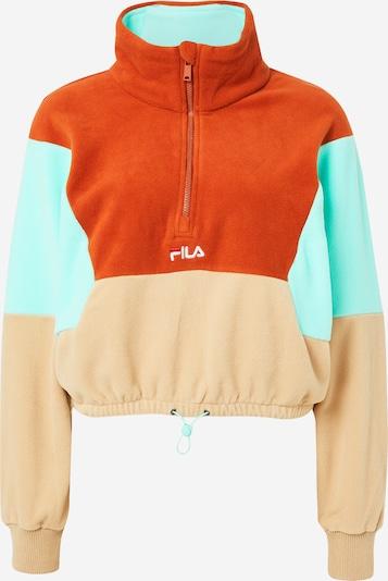 FILA Fleecejacke 'WALTA' in beige / türkis / orangerot, Produktansicht
