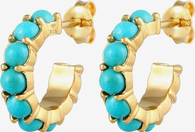 ELLI Oorbellen in de kleur Turquoise / Goud, Productweergave