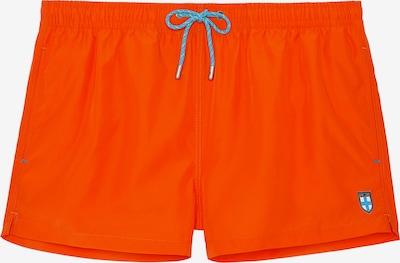 HOM Shorts de bain ' Sea Life ' en orange, Vue avec produit