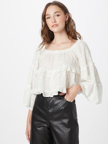 ABOUT YOU - Blusa 'Clara' en blanco