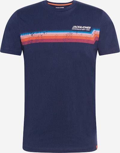 JACK & JONES Shirt in blau / navy / orange / rot, Produktansicht