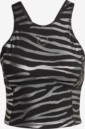 Top sportivo adidas by Stella McCartney di colore nero / argento, Visualizzazione prodotti