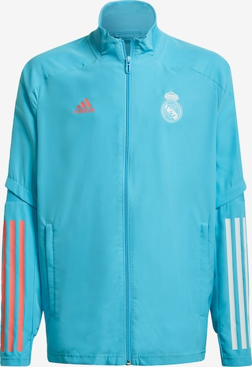 ADIDAS PERFORMANCE Sportjas 'Real Madrid' in de kleur Turquoise / Rood / Wit, Productweergave
