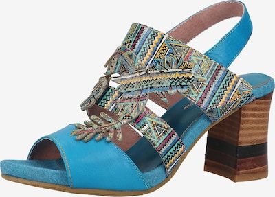 Laura Vita Sandales à lanières en bleu ciel / mélange de couleurs, Vue avec produit
