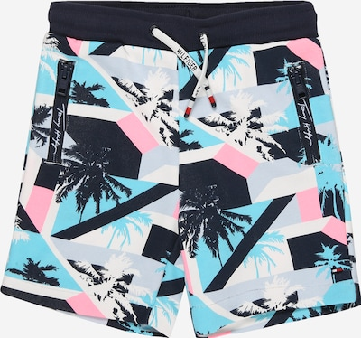 TOMMY HILFIGER Pantalon en marine / bleu clair / gris clair / rose / blanc, Vue avec produit
