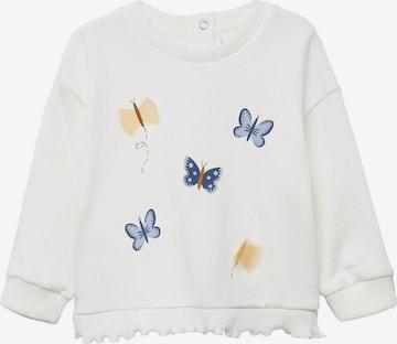 Sweat-shirt 'BARBARA' MANGO KIDS en blanc