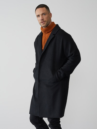 DAN FOX APPAREL Mantel 'Tobias' in schwarz, Modelansicht