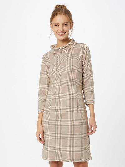 TOM TAILOR Kleid in beige / braun / weiß, Modelansicht