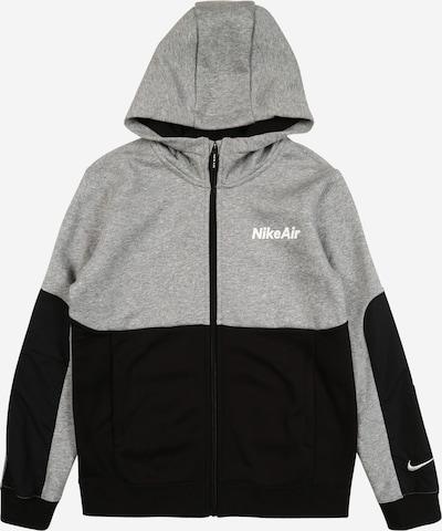 Nike Sportswear Sweatjacke 'Air' in hellgrau / schwarz, Produktansicht