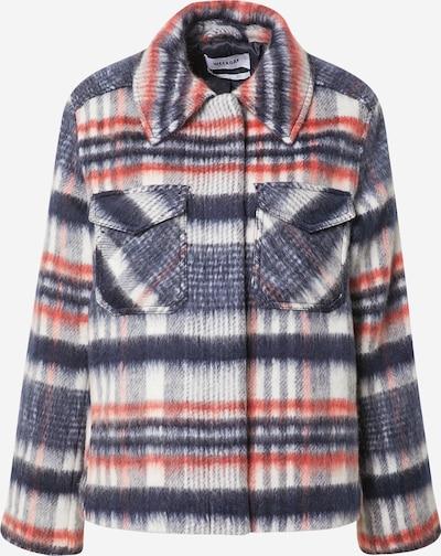 WEEKDAY Manteau mi-saison 'Isa Hairy' en bleu / rouge, Vue avec produit