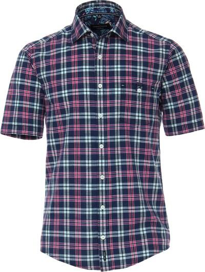 Venti Kurzarm Freizeithemd in blau / pink, Produktansicht