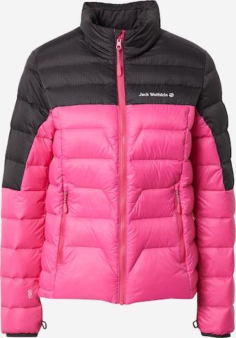 JACK WOLFSKIN Outdoor Jacket 'Tundra' in Pink