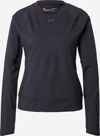 UNDER ARMOUR Athletic Sweatshirt in Black