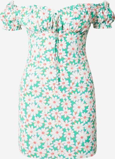 Rochie de vară GLAMOROUS pe verde jad / portocaliu / corai / alb, Vizualizare produs