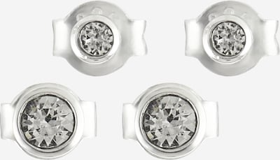 ELLI Kolczyki w kolorze srebrny / białym, Podgląd produktu