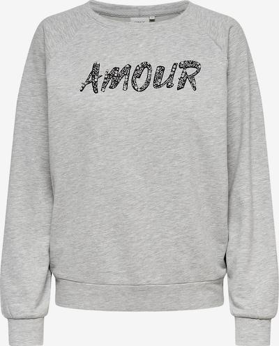 ONLY Sweatshirt 'ALEXA' in hellgrau, Produktansicht