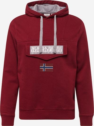 NAPAPIJRI Sweat-shirt en gris / rouge foncé, Vue avec produit