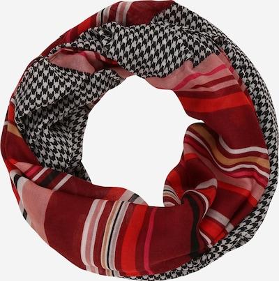 CODELLO Schal 'MODERN GEOS' in hellbeige / rosé / blutrot / schwarz / weiß, Produktansicht