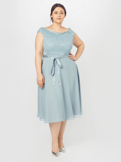 SWING Curve Cocktail Dress in Pastel blue, View model