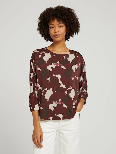 MINE TO FIVE Blouse in Beige / Red / Black, View model