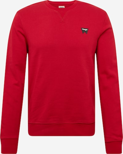 WRANGLER Sportisks džemperis 'SIGN OFF' sarkans / melns / balts, Preces skats