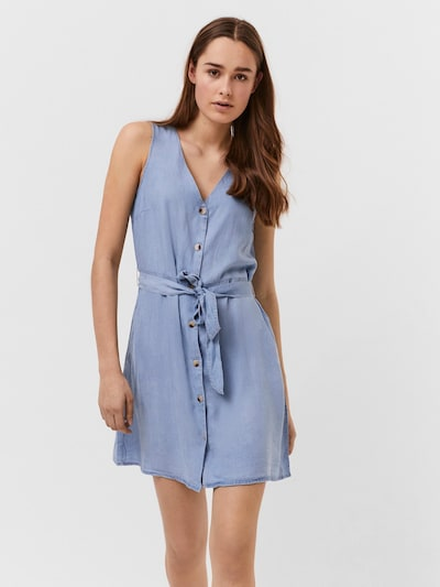 VERO MODA Kleid 'Viviana' in blue denim, Modelansicht
