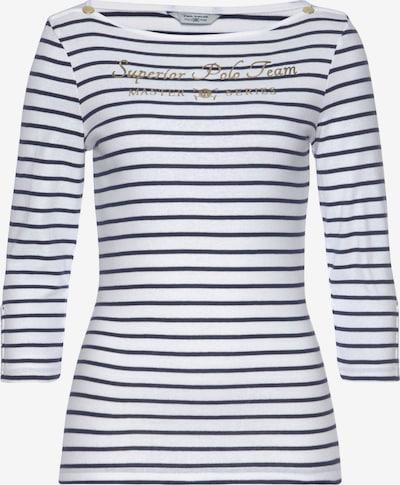 Tom Tailor Polo Team Shirt in marine / weiß, Produktansicht