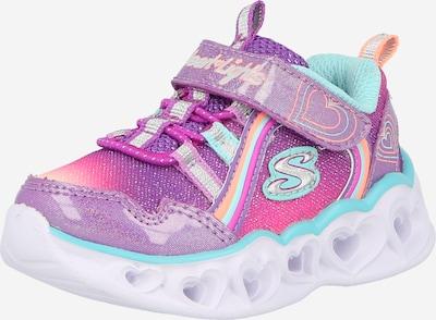SKECHERS Brīvā laika apavi, krāsa - nefrīta / lillā / oranžs / rozā / Sudrabs, Preces skats