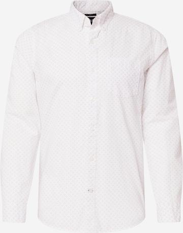 GAP Hemd 'V-FA 21 LS SLIM POPLIN' in Weiß