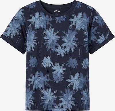 NAME IT T-Shirt 'Valther' en bleu fumé / bleu nuit / bleu clair: Vue de face