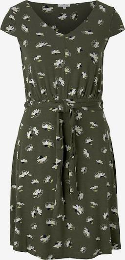 TOM TAILOR Robe en vert clair / vert foncé / noir / blanc, Vue avec produit
