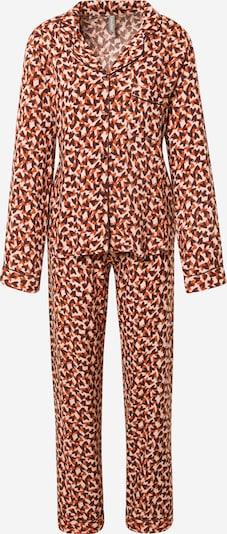 LingaDore Pidžama u bež / smeđa / tamno narančasta, Pregled proizvoda