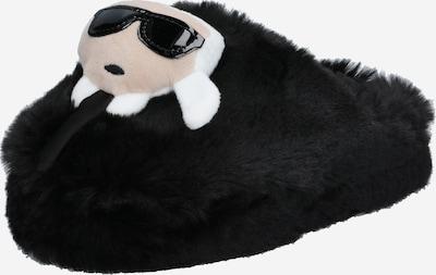 Karl Lagerfeld Hausschuh 'KASA' in nude / schwarz / weiß, Produktansicht
