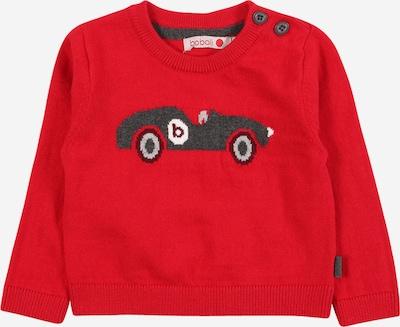 Boboli Pullover in grau / rot / bordeaux / weiß, Produktansicht