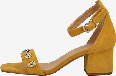 SPM Sandalen met riem in de kleur Geel / Mosterd: Vooraanzicht