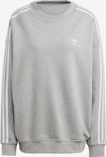 Bluză de molton ADIDAS ORIGINALS pe gri / alb, Vizualizare produs