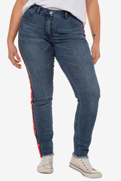 Studio Untold Jeans in dunkelblau, Modelansicht