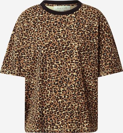 NU-IN Oversized shirt in de kleur Beige / Bruin / Zwart, Productweergave