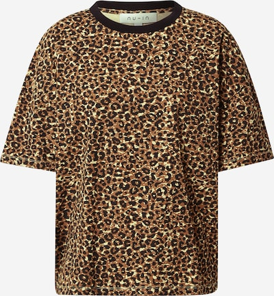 NU-IN T-shirt oversize en beige / marron / noir, Vue avec produit