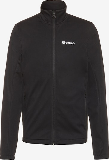 GONSO Athletic Fleece Jacket in Black / White, Item view