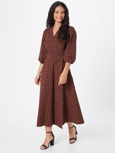 minimum Šaty 'Elmina 9083' - hnedá / tmavočervená / čierna, Model/-ka