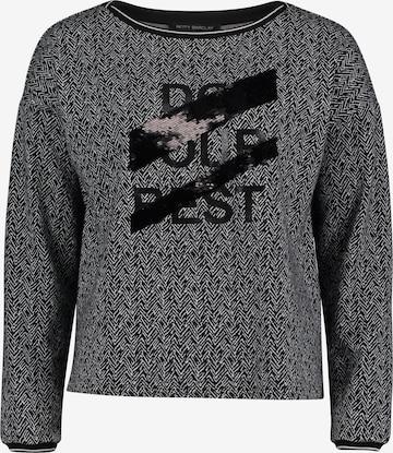 Betty Barclay Sweatshirt mit Ringelbündchen in Schwarz