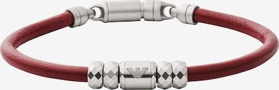 Emporio Armani Armband in rubinrot / silber, Produktansicht