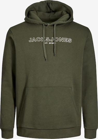 Jack & Jones Plus Sweater majica 'Bank' u kaki / bijela, Pregled proizvoda