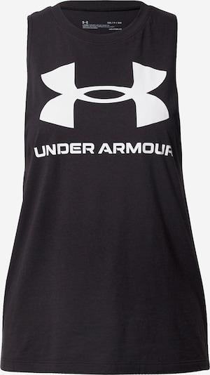 UNDER ARMOUR Sportovní top - černá / bílá, Produkt