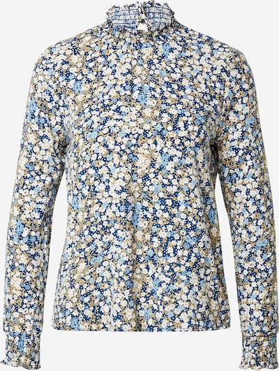OBJECT (Petite) Bluse 'DITSY DALILA' in navy / hellblau / khaki / weiß, Produktansicht