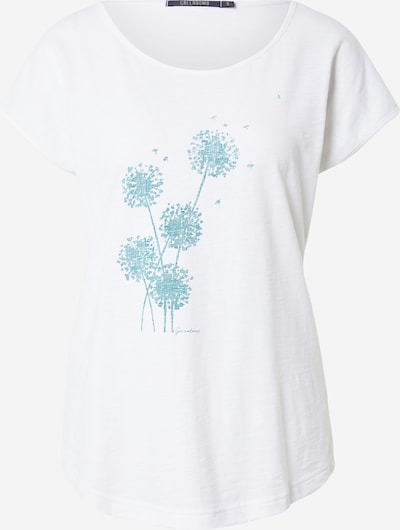 GREENBOMB Shirt in de kleur Turquoise / Wit, Productweergave