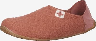 Living Kitzbühel Hausschuh in braun / altrosa / rot, Produktansicht