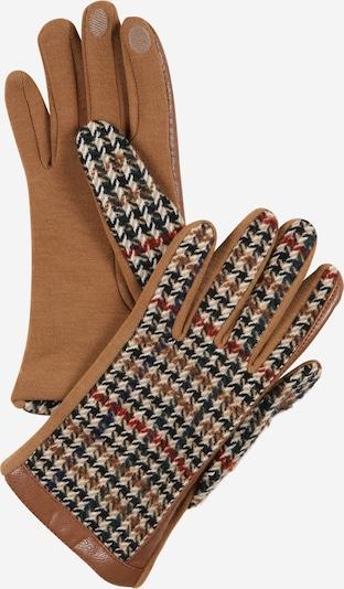 ESPRIT Fingerhandschuhe in beige / karamell / rot / schwarz / weiß, Produktansicht