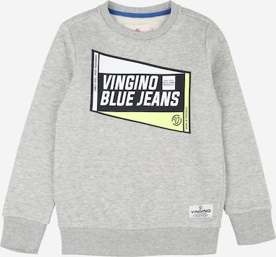 VINGINO Sweatshirt 'Neleno' in hellgelb / graumeliert / schwarz / weiß, Produktansicht